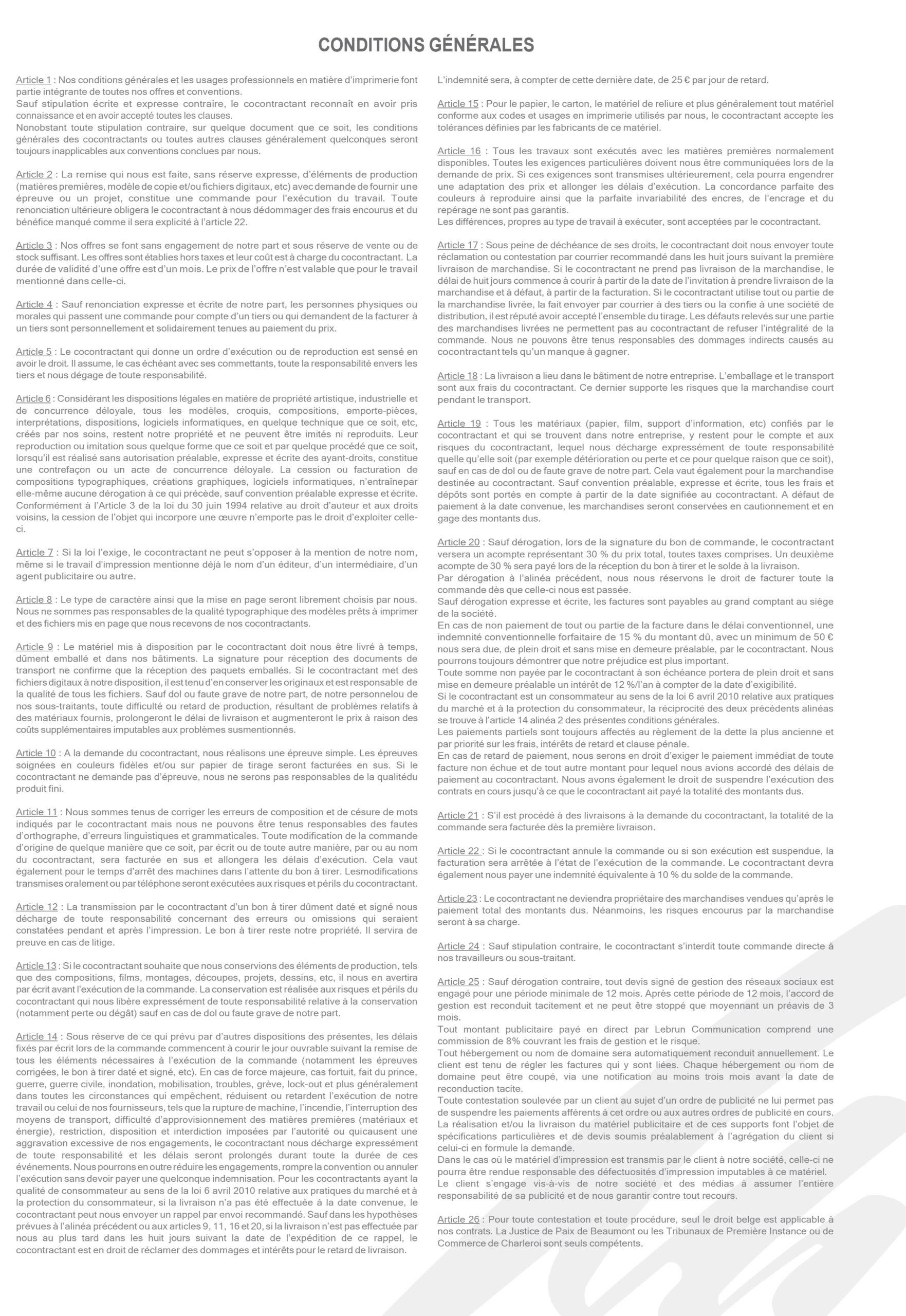 Lebrun Communication_Conditions générales 2021